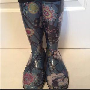 Kamik Boots rain rubber multicolor floral